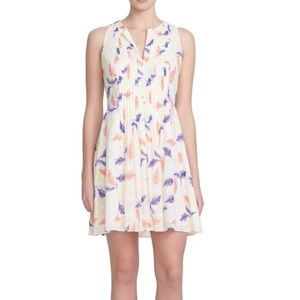 Anthropologie CeCe Feather Cotton Summer Dress